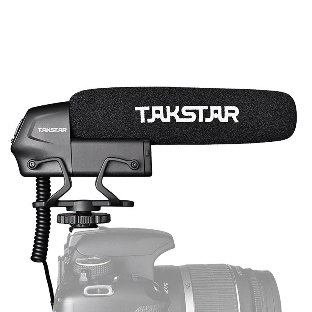 Микрофон на Камера конденсаторный микрофон для съемки интервью суперкардиоидный 3-х уровневый 3,5 мм разъем для цифровой зеркальной камеры ...