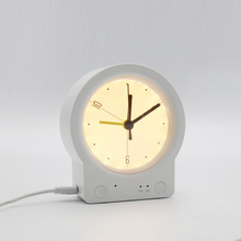 Alarm Clock Night Light Bedroom Baby Nursing Eye Protection Night Sleep with Time Children's Room Cute Desk Lamp Multi-Function
