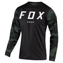 2021 Men's Downhill Jerseys Thxp Fox Mountain Bike MTB Shirts Offroad DH Motorcycle Jersey Motocross Sportwear Clothing FXR Bike