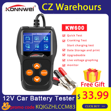 Konnwei KW600 12 V Auto Batterij Tester 100 2000CCA 12 Volt Batterij Gereedschap Voor De Auto Quick Zwengelen Opladen diagnostic Tools