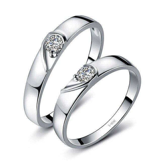 18ct Gold Diamond Couple Set Rings Wedding Bands Engagement Rings for Men Women Free DHL Shipping 2