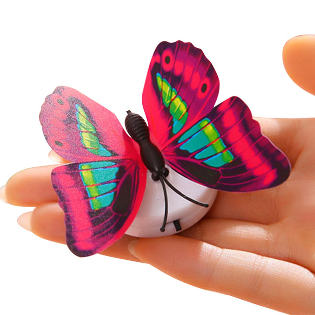 5pcs Self-adhesive butterfly shape decorative night light wall lamp baby bedside lights Indoor lighting home decor 6