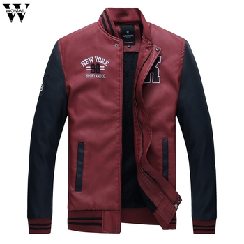 High Quality Men Jacket Autumn Winter Fashion Casual High-quality Stand Collar Leather Jackets Male Coat Thin Men Coat 1