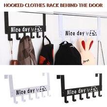 Bad Küche Schlafzimmer Aufhänger Haken Mit 6-Haken Kreative Einfache Schmiedeeisen Tür Haken Keine T Rennen Freies Stanzen lagerung Rack