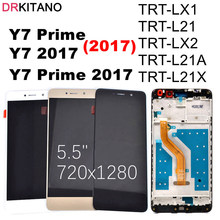 DRKITANO ekran için HUAWEI Y7 2017 LCD ekran dokunmatik ekran Digitizer için Huawei Y7 başbakan 2017 LCD çerçeve ile TRT L21 TRT LX1