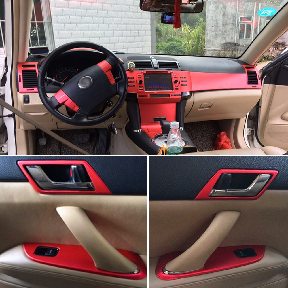 For Toyota Mark X Reiz 2005-2015 Car-Styling 3D/5D Carbon Fiber Car Interior Center Console Color Change Molding Sticker Decals