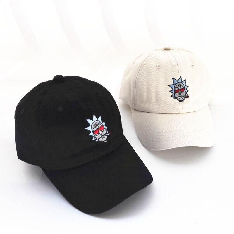Rick and Morty Pickle Dad Hat Baseball Cap Snapback Black White Adjustable Unise