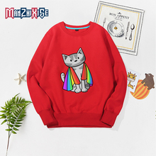 Children Boys Clothes Girls Sweatshirt Autumn Winter New Kids Sweatshirts Casual Tops Cat Superman Print Childrens Clothing