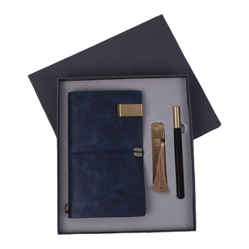 Creative Business Gift Set PU Leather Notebook Bookmark Pen Kit for Teacher Day H05A