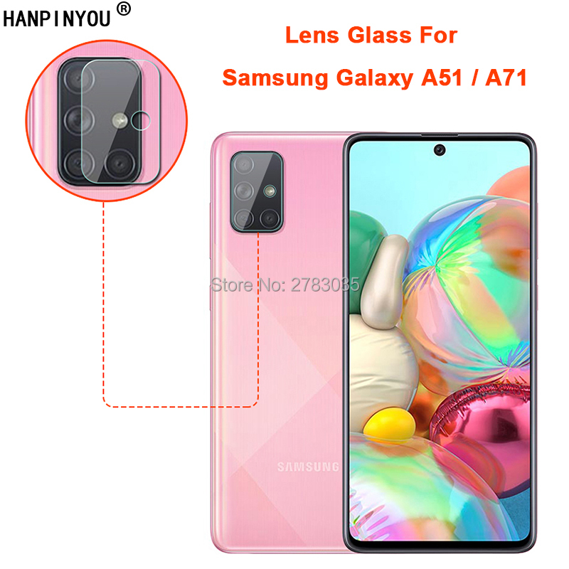 For Samsung Galaxy A51 / A71 Clear Ultra Slim Back Camera Lens Protector Rear Camera Len Cover Tempered Glass Protection Film