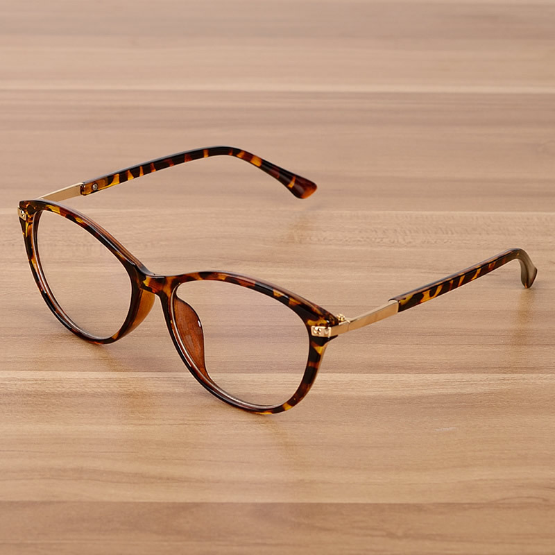 Vintage Cat Eye Glasses Frame Women Men Brand Transparent Retro Optical Spectacle Eyeglasses Frames Clear Lens Retro Eyewear