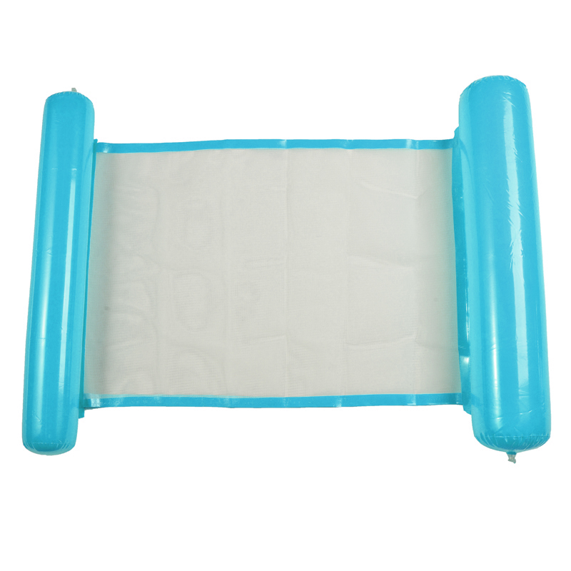 1 Pcs PVC 130*73CM No Fading Inflatable Water Hammock Swimming Pool Beach Float Chair Outdoor Furniture