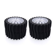 4PCS 1/8 RC Car Snow Sand Paddle Tires Rubber Tyres Wheels for Redcat Team Losi VRX HPI Kyosho HSP Carson Hobao 1/8 Buggy 4pcs 1 8 rc car rubber tyres plastic wheels for redcat team losi vrx hpi kyosho hsp carson hobao 1 8 buggy on road car