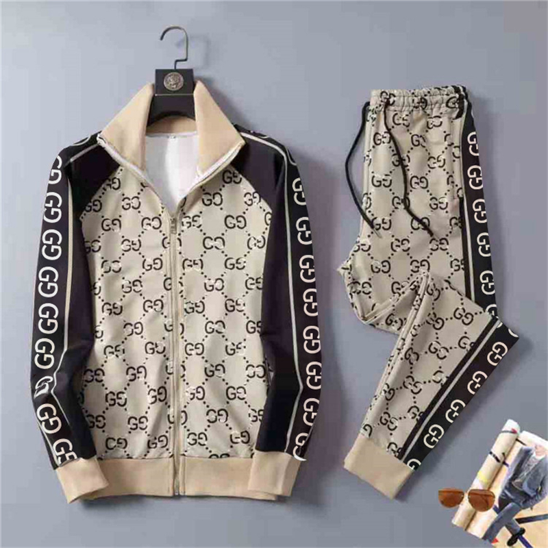 2021 Spring And Summer 3D-Printed Men's Sports Suit New Brand Sports Zipper Jacket + Trend Sports Jogging Pantsuit