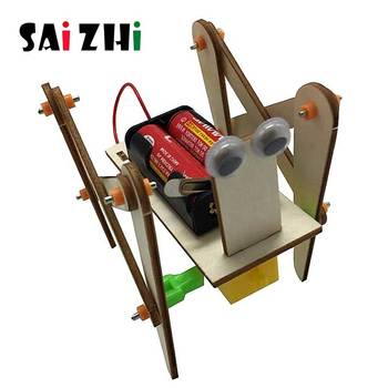 Saizhi Electronic Crawling Robot Dog Toys For Kids DIY Assembled Model Technology Science Experiment Educational Toy For Child theo jansen mini strandbeest model wind power beast diy educational toys handmade science experiment toys child birthday gift