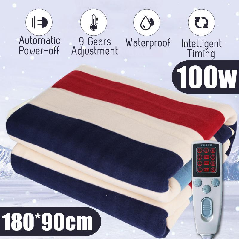 180x90cm Electric Blanket Thicker Heater Timing Single Double Body Warmer Heated Blanket Thermostat Electric Heating Blanket