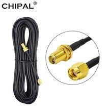 CHIPAL – câble d'alimentation Coaxial RG174 mâle-femelle, 6M, 9M, pour carte réseau Wi-Fi WLAN, antenne de routeur