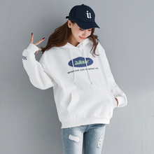 The New Printing Hoodies Korean Style Women Clothing Oversized Instagram Fashion O-neck Cotton Autumn Casual Streetwear 2019