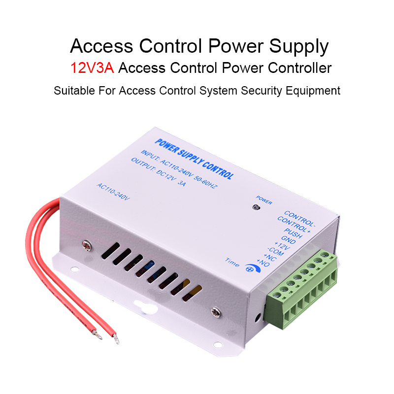 DC 12V 3A New Door Access Control System Switch Power Supply AC 110~240V  Delay Time Max 15s High Quality Power Supply Control