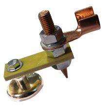 Strong Magnetic Ground Clamp Connector with Conductive Rod Stud for Welding