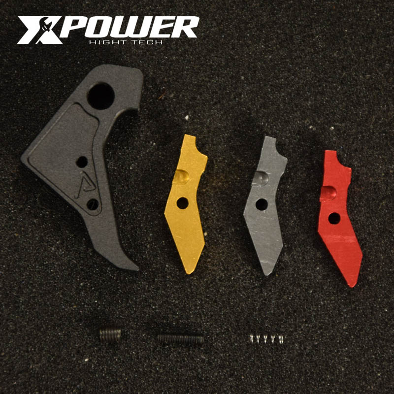 XPOWER  P1 Metal Outer Trigger Tactical Air Gun Fit TM Systerm Kublai  Unicorn Industries Special Appearance Modification CNC Cu