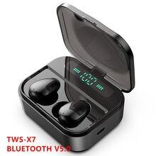 X7 verdadeiro fones de ouvido sem fio led bluetooth fone de ouvido sem fio de alta fidelidade gaming headset com microfone som estéreo música bluetooth gaming headphones phones bluetooth X7 TWS earphone bluetooth