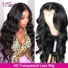 Perruque Lace Frontal Wig Body Wave brésilienne Remy – Tinashe, perruque Closure Wig, 13x6, Transparent HD, 30 pouces, densité 250