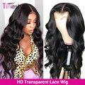Парик Tinashe с волнистой поверхностью 13x6, парики из натуральных человеческих волос на сетке спереди, плотность 250, парик с застежкой 4x4 6x6, брази...