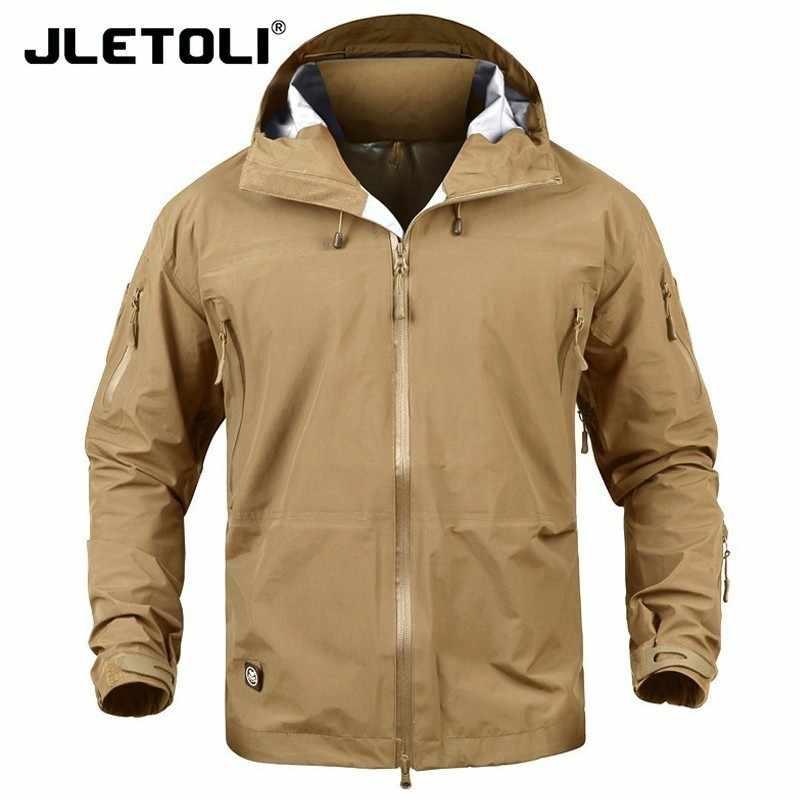 JLETOLI 防水ジャケットウインドブレーカー冬の屋外ハイキングジャケット男性の女性のコート防風ハードシェルジャケット戦術服