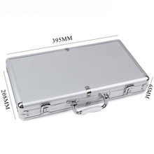 JULY' DOSAC Big Capacity Silver Stripe Aluminum Chips Box Playing Card Suitcase Non-slip Mat Portable luggage(China)