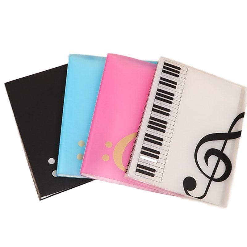1pcs Fashion A4 Music Teaching File Folder 40 Sheets Piano Sheets Music Document File Organizer Folder Creative School Supplies