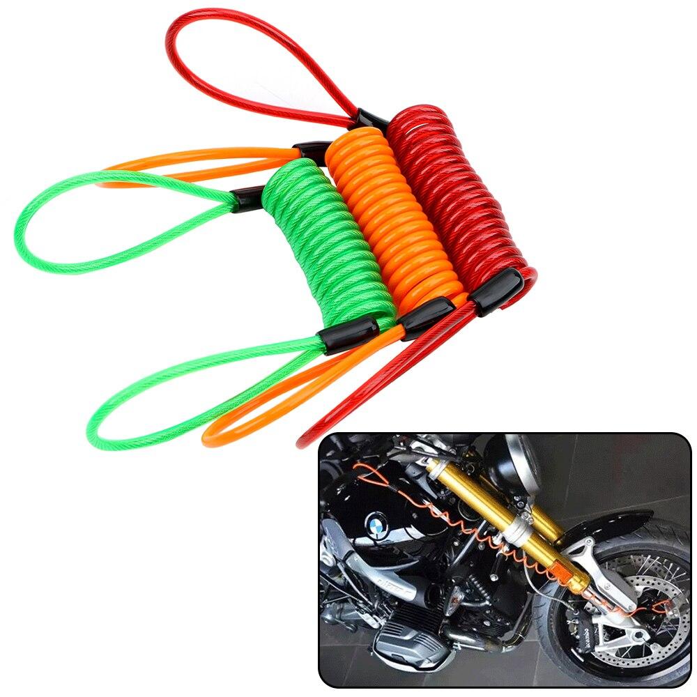 Reminder Disc Brake Bag Anti-theft rope Spring Cable locks Alarm Disc lock