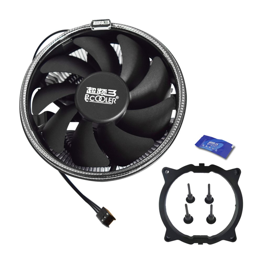 Pccooler 12cm CPU Cooling Fan With LED Aperture PWM Silent Cooler Hydraulic Bearing 3pin CPU Cooling Radiator Drop Shipping