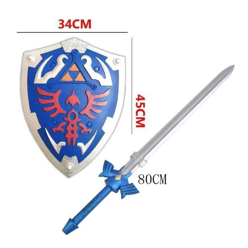 2018 New The Skysword Cosplay Weapon Shield Sword Set Halloween Cosplay Handhelds Carnaval Deguisement Kid Cosplay Toy