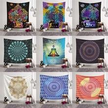 95 73cm Indian Mandala Tapestry Yoga Mat Bedspread Hippie Home Decor Wall Hanging Bohemia Beach Towel