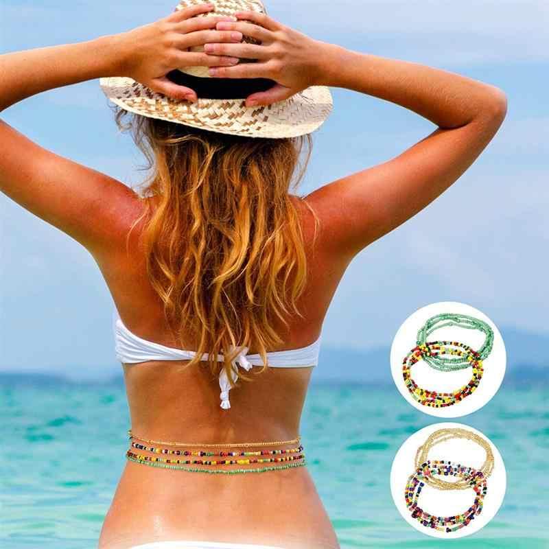 1Pc Gaya Bohemian Rantai Pinggang Kreatif Dekorasi Pinggang Perhiasan Perut Rantai untuk Wanita Wanita Perhiasan Aksesoris