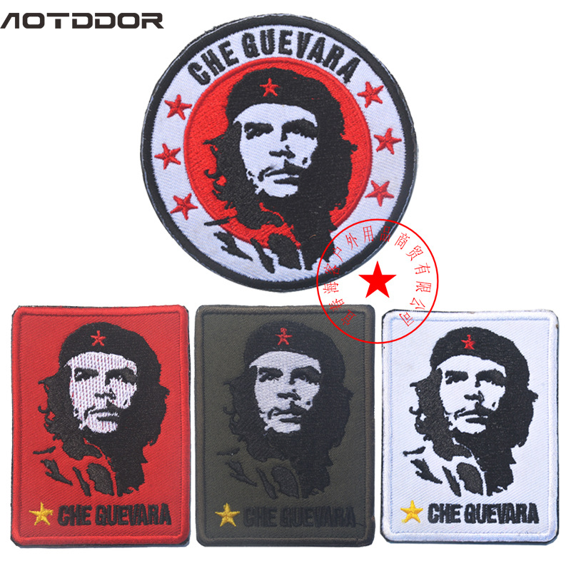 Currently Available Che Guevara Figure Avatar Cloth Sticker Embroidered Velcro Shoulder Emblem