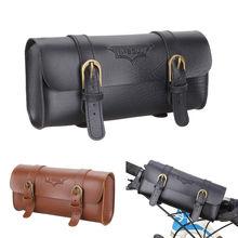 Кожаные велосипедные сумки руль Ретро Классический горный MTB дорожный велосипед корзины ручной работы для хранения мелких предметов велосипедный передний кошелек-туба коробка
