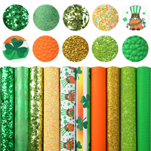 A5 Size St Patricks Faux Leather Fabric Vinyl Leatherette Clothing Upholstery DIY Earrings Hair Bows,1Yc16013