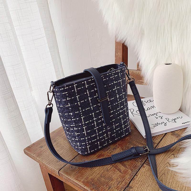 Bucket-Bags Purses Women Messenger Cross-Body Korean Fashion High-Quality Holiday Simple
