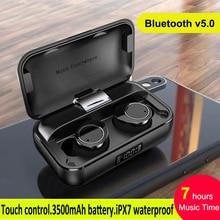 TWS X13 Binaural Bluetooth 5.0 Earphone Touch Control True Wireless Earbuds IPX7