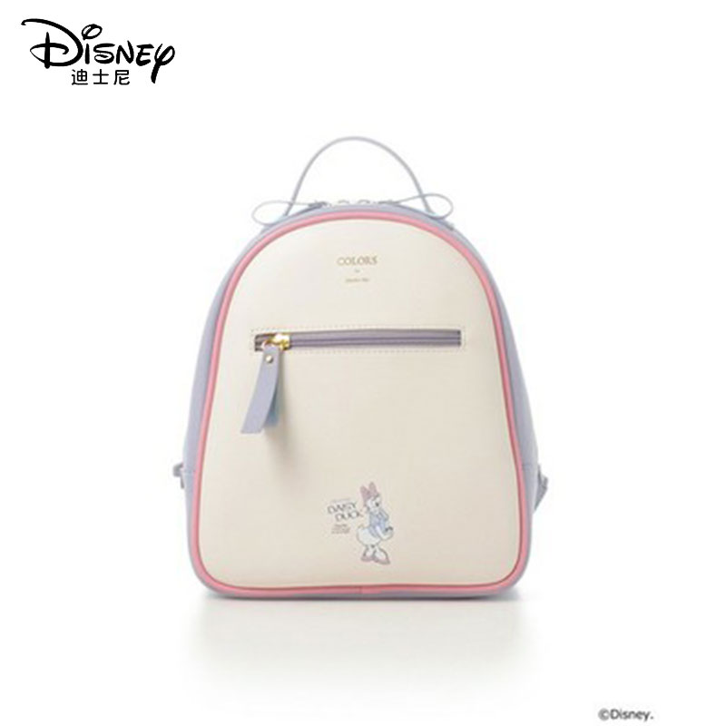 Disney New Waterproof Travel Backpack Women Bag Clutch Donald Duck Daisy Women Leather Luxury Backpack Women Bags Designer