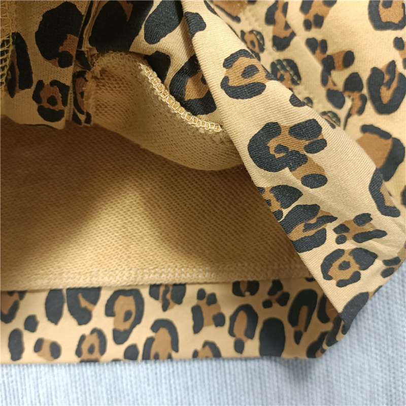 Spring and Summer 2021 new boys and girls Leopard print t-shirt dress leggings hoodie jacket 6