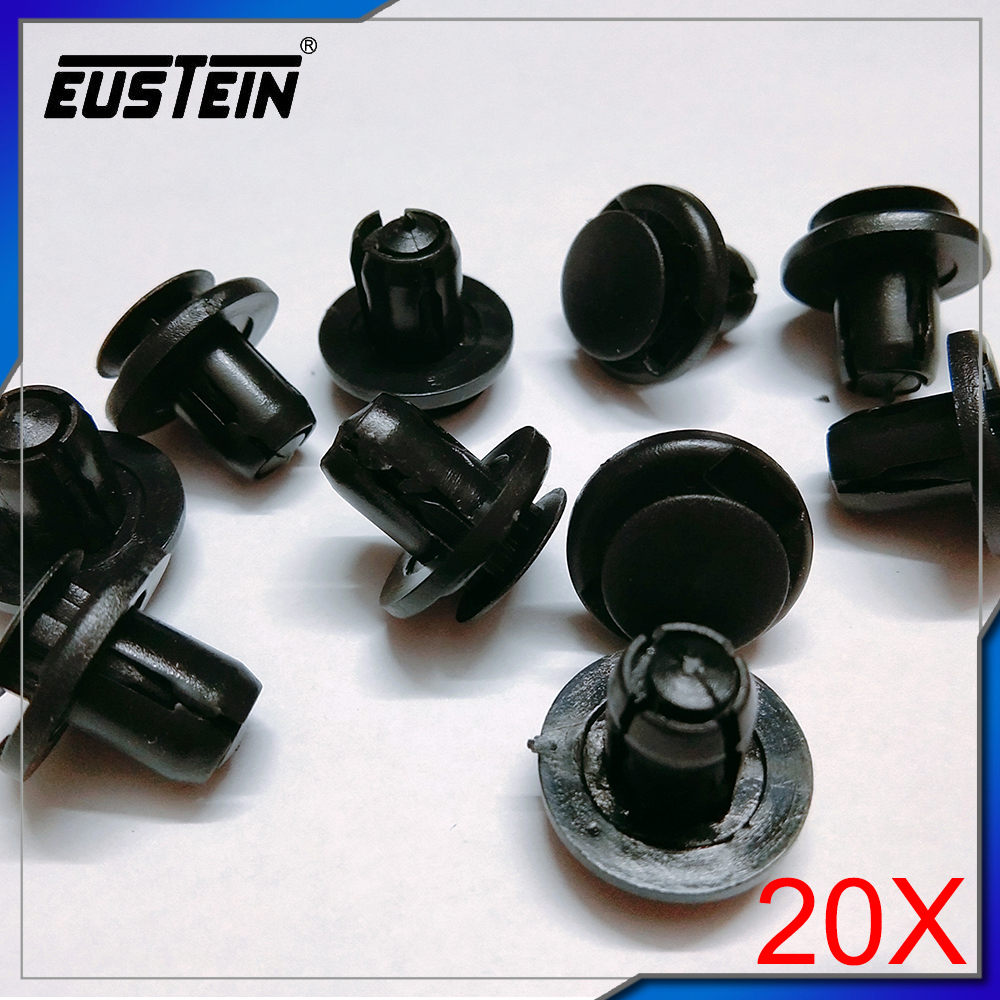 20 High Quality Belt Weatherstrip Moulding Clip Nylon Retainer A19415 For Honda