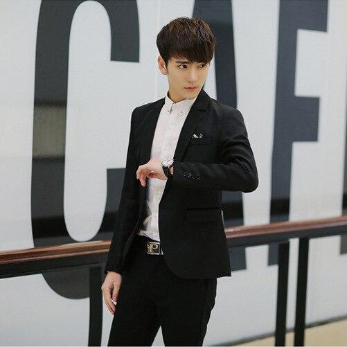 Teenager Fashion New Style Suit Korean-style Small Suit Men's Slim Fit Leisure Suit Coat Fashion Men's