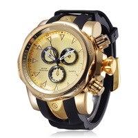 Top marka Man złote zegarki Sport wodoodporny zegar człowiek zegarki wojskowy luksusowy męski zegarek analogowy kwarcowy Dropshipping w Zegarki kwarcowe od Zegarki na