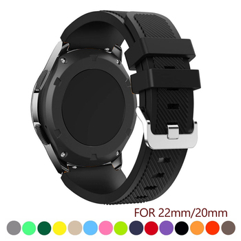 20 22mm band pebble time samsung galaxy watch active 42 46 gear sport s2 s3 zenwatch 1 2 ticwatch e pro c2 neo live strap 20 22mm watch band For Samsung Galaxy watch 46mm 42mm active 2 gear S3 Frontier strap huawei watch GT 2 strap amazfit bip 47 44