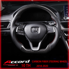Steering-Wheel Carbon-Fiber Jdm-Style Racing Accord 10th Honda Suitable-For