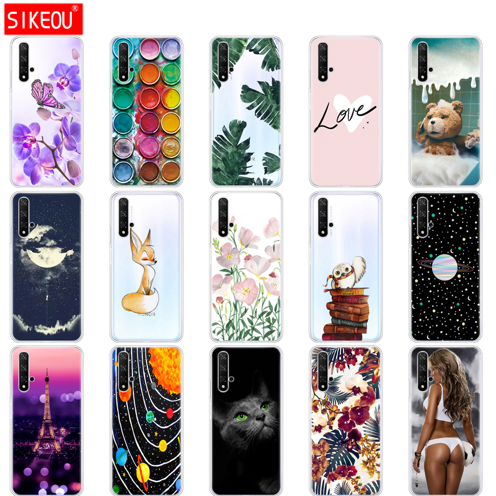 Image 2 - ケースに名誉 20 ケースシリコンバックカバー電話ケース Huawei 社の名誉 20 プロ Lite Honor20 YAL  L21 YAL L41 高級漫画 -    グループ上の 携帯電話