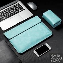 New Pu Laptop Sleeve for Huawei Matebook 13 14 Magicbook Bag Case Macbook Air Pro Waterproof Solid